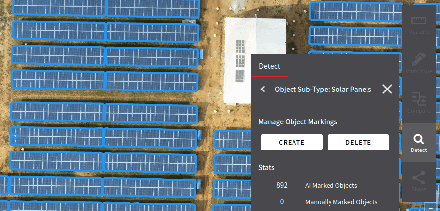 solar modules detection