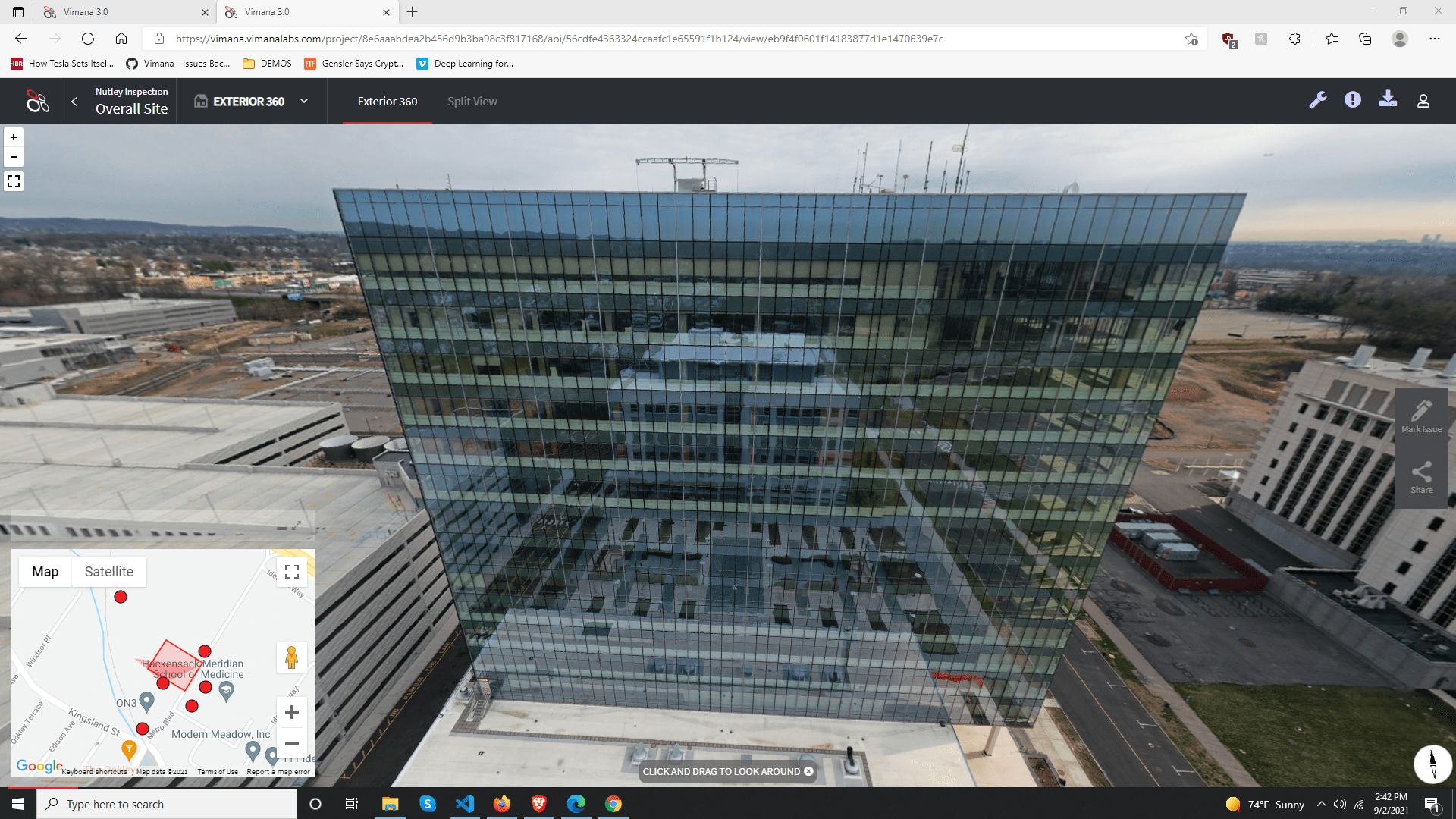 Glass Facade Inspected by Aspec Scire's Vimana using Drones